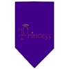 Mirage Pet Products Princess Rhinestone Bandana Purple Large