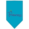 Mirage Pet Products Princess Rhinestone Bandana Turquoise Large