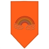 Mirage Pet Products Rainbow Rhinestone Bandana Orange Large