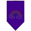 Mirage Pet Products Rainbow Rhinestone Bandana Purple Large