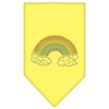 Mirage Pet Products Rainbow Rhinestone Bandana Yellow Large