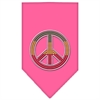 Mirage Pet Products Rasta Peace Rhinestone Bandana Bright Pink Small