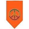 Mirage Pet Products Rasta Peace Rhinestone Bandana Orange Large