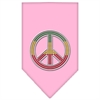 Mirage Pet Products Rasta Peace Rhinestone Bandana Light Pink Large