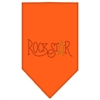 Mirage Pet Products Rock Star Rhinestone Bandana Orange Large