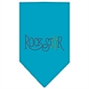 Mirage Pet Products Rock Star Rhinestone Bandana Turquoise Large