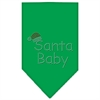 Mirage Pet Products Santa Baby Rhinestone Bandana Emerald Green Large
