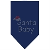Mirage Pet Products Santa Baby Rhinestone Bandana Navy Blue Small