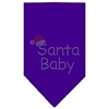 Mirage Pet Products Santa Baby Rhinestone Bandana Purple Small