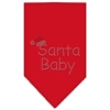 Mirage Pet Products Santa Baby Rhinestone Bandana Red Large