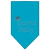 Mirage Pet Products Santa Baby Rhinestone Bandana Turquoise Large