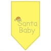 Mirage Pet Products Santa Baby Rhinestone Bandana Yellow Large