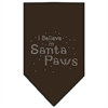 Mirage Pet Products Santa Paws Rhinestone Bandana Cocoa Large