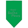Mirage Pet Products Santa Paws Rhinestone Bandana Emerald Green Small