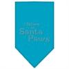 Mirage Pet Products Santa Paws Rhinestone Bandana Turquoise Large
