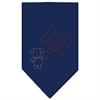 Mirage Pet Products Santa Please Stop here Rhinestone Bandana Navy Blue Small
