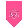 Mirage Pet Products Snowflake Rhinestone Bandana Bright Pink Large