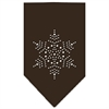 Mirage Pet Products Snowflake Rhinestone Bandana Cocoa Small