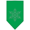 Mirage Pet Products Snowflake Rhinestone Bandana Emerald Green Large