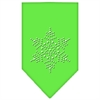 Mirage Pet Products Snowflake Rhinestone Bandana Lime Green Large