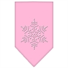 Mirage Pet Products Snowflake Rhinestone Bandana Light Pink Small