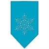 Mirage Pet Products Snowflake Rhinestone Bandana Turquoise Large