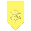 Mirage Pet Products Snowflake Rhinestone Bandana Yellow Large
