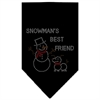 Mirage Pet Products Snowman's Best Friend Rhinestone Bandana Black Small