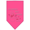 Mirage Pet Products Snowman's Best Friend Rhinestone Bandana Bright Pink Large