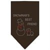 Mirage Pet Products Snowman's Best Friend Rhinestone Bandana Cocoa Large
