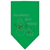 Mirage Pet Products Snowman's Best Friend Rhinestone Bandana Emerald Green Large