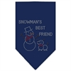 Mirage Pet Products Snowman's Best Friend Rhinestone Bandana Navy Blue large