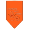 Mirage Pet Products Snowman's Best Friend Rhinestone Bandana Orange Large