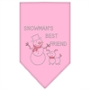Mirage Pet Products Snowman's Best Friend Rhinestone Bandana Light Pink Large