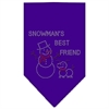 Mirage Pet Products Snowman's Best Friend Rhinestone Bandana Purple Large