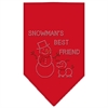 Mirage Pet Products Snowman's Best Friend Rhinestone Bandana Red Large