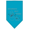 Mirage Pet Products Snowman's Best Friend Rhinestone Bandana Turquoise Large