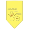 Mirage Pet Products Snowman's Best Friend Rhinestone Bandana Yellow Large