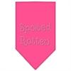 Mirage Pet Products Spoiled Rotten Rhinestone Bandana Bright Pink Large