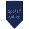 Mirage Pet Products Spoiled Rotten Rhinestone Bandana Navy Blue large