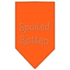 Mirage Pet Products Spoiled Rotten Rhinestone Bandana Orange Small