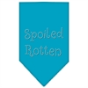 Mirage Pet Products Spoiled Rotten Rhinestone Bandana Turquoise Small