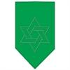 Mirage Pet Products Star Of David Rhinestone Bandana Emerald Green Large