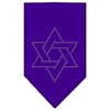 Mirage Pet Products Star Of David Rhinestone Bandana Purple Small