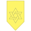 Mirage Pet Products Star Of David Rhinestone Bandana Yellow Small