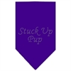 Mirage Pet Products Stuck Up Pup Rhinestone Bandana Purple Large