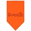 Mirage Pet Products Sweetie Rhinestone Bandana Orange Small