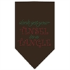 Mirage Pet Products Tinsel in a Tangle Rhinestone Bandana Brown Large