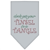 Mirage Pet Products Tinsel in a Tangle Rhinestone Bandana Grey Large
