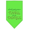 Mirage Pet Products Tinsel in a Tangle Rhinestone Bandana Lime Green Small